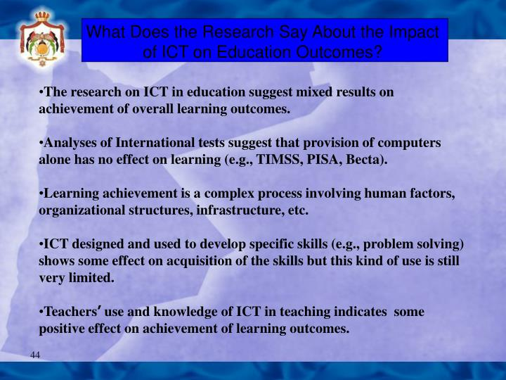 What Does the Research Say About the Impact of ICT on Education Outcomes?