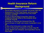 health insurance reform background