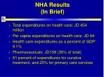 nha results in brief