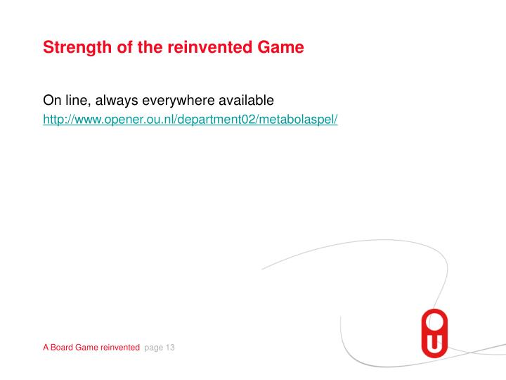 Strength of the reinvented Game