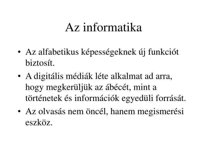 Az informatika