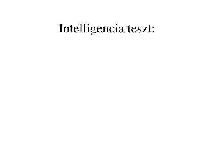 Intelligencia teszt: