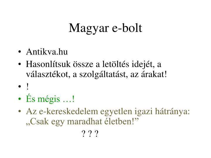 Magyar e-bolt