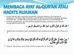 membaca ayat al qur an atau hadits rujukan