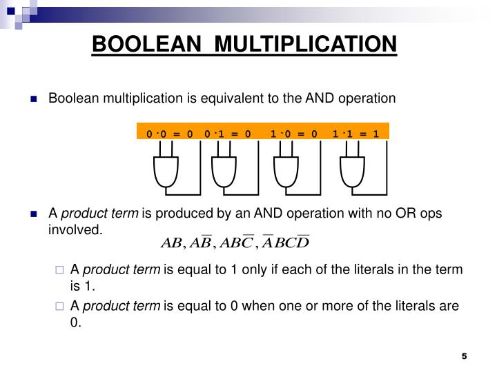 BOOLEAN  MULTIPLICATION