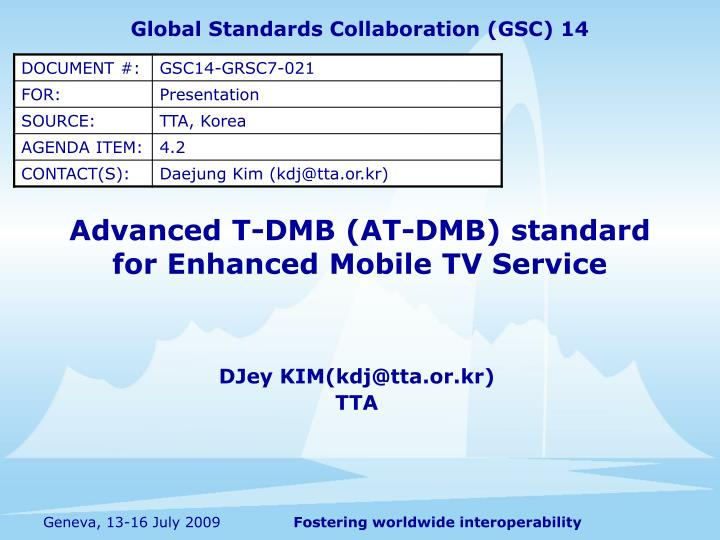 Advanced t dmb at dmb standard for enhanced mobile tv service