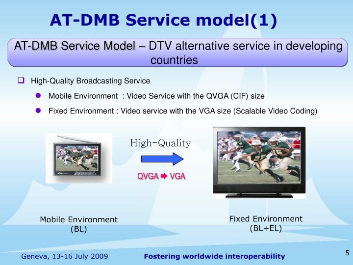 AT-DMB Service model(1)