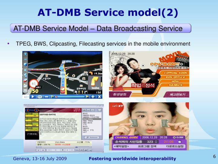 AT-DMB Service model(2)