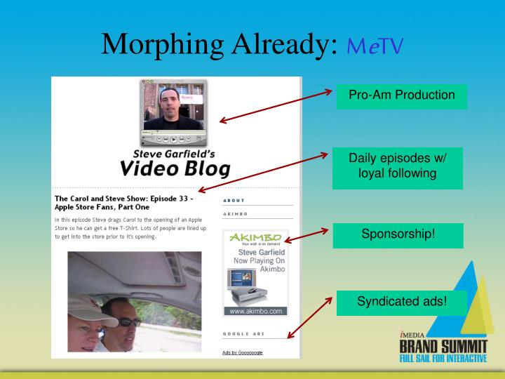 Morphing Already: