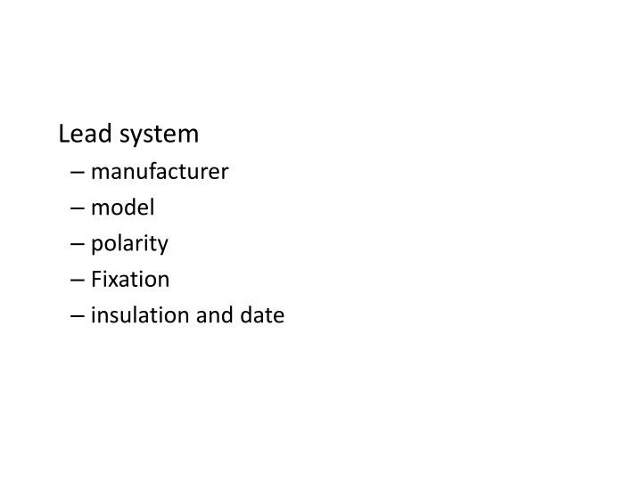 Lead system