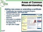areas of common misunderstanding4