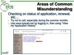 areas of common misunderstanding5