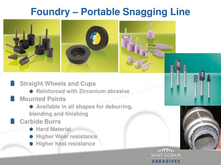 Foundry portable snagging line