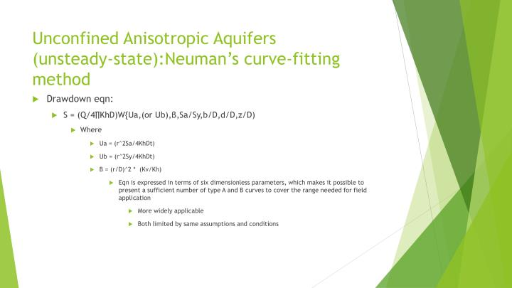 Unconfined Anisotropic Aquifers