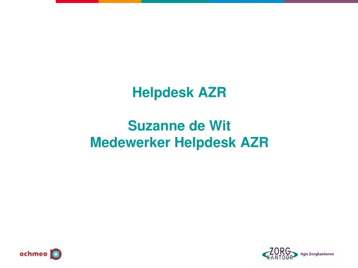 Helpdesk AZR