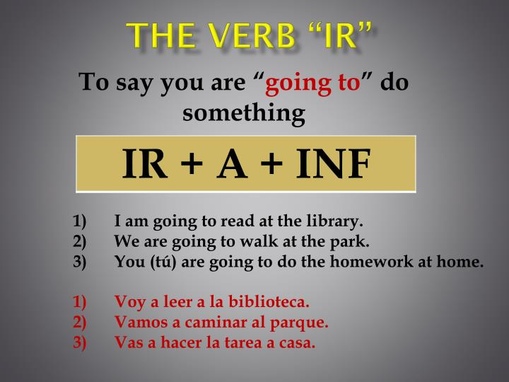 The verb ir1