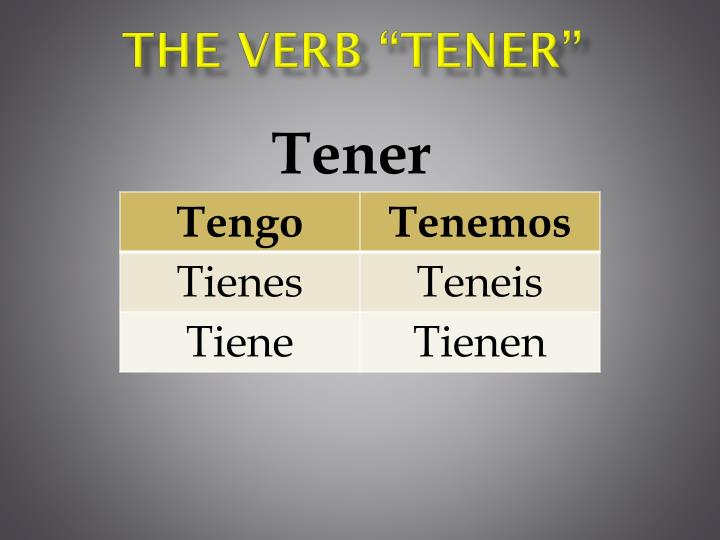 The Verb ""