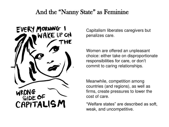 "And the ""Nanny State"" as Feminine"