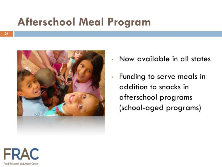 Afterschool Meal Program