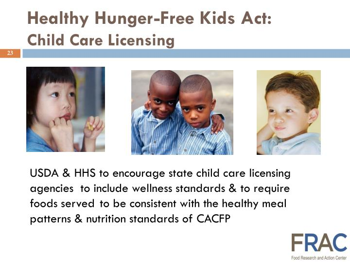 Healthy Hunger-Free Kids Act: