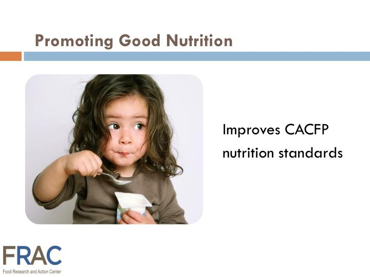 Promoting Good Nutrition