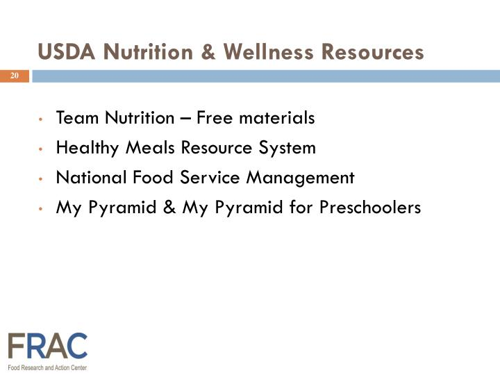 USDA Nutrition & Wellness Resources