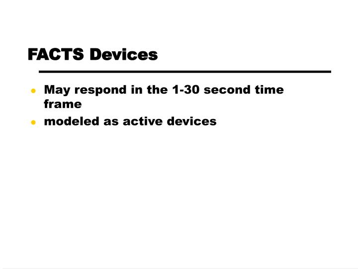 FACTS Devices