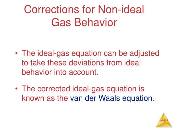 Corrections for Non-ideal Gas Behavior