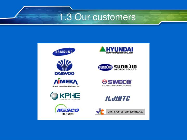 1.3 Our customers