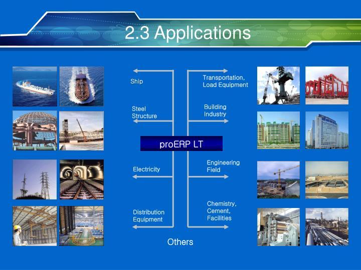 2.3 Applications