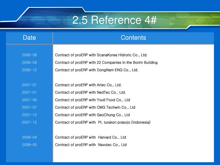 2.5 Reference 4#