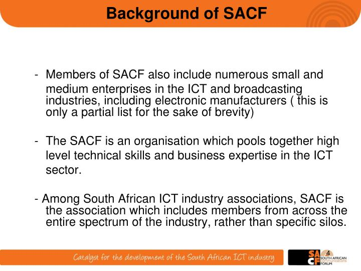 Background of SACF