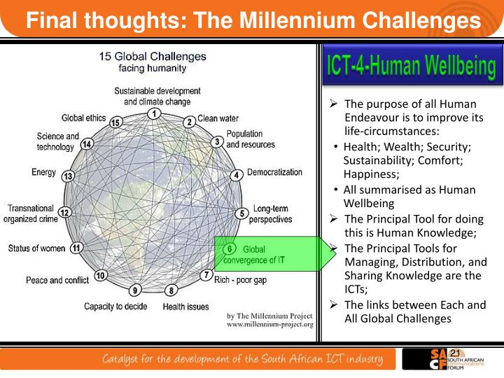 Final thoughts: The Millennium Challenges