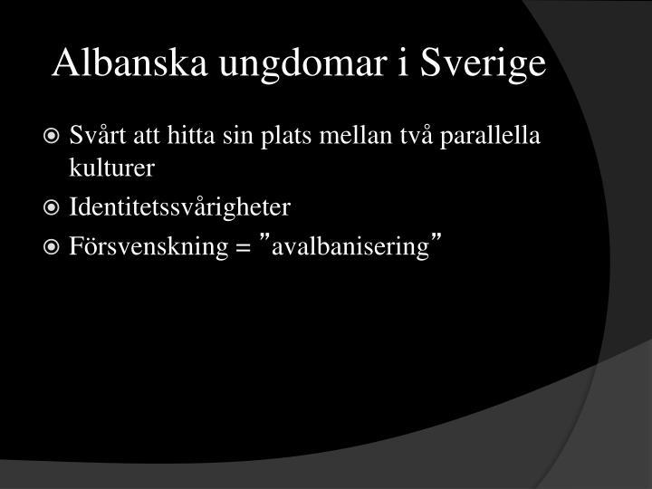 Albanska ungdomar i Sverige
