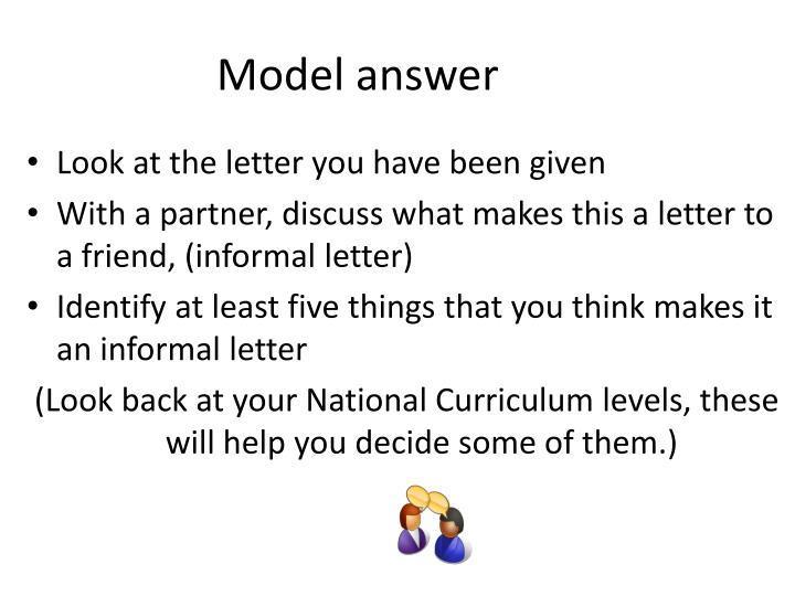 Model answer