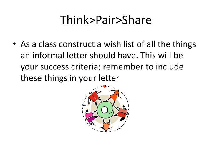 Think>Pair>Share