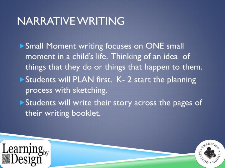 narrative writing powerpoint presentation Tweetemail tweetemailbelow i have included highlights from a powerpoint presentation on narrative writing, i presented to a group of 5th graders the text reads as if giving instructions to students below the article are links to the powerpoint and a printable handout for students to use in.