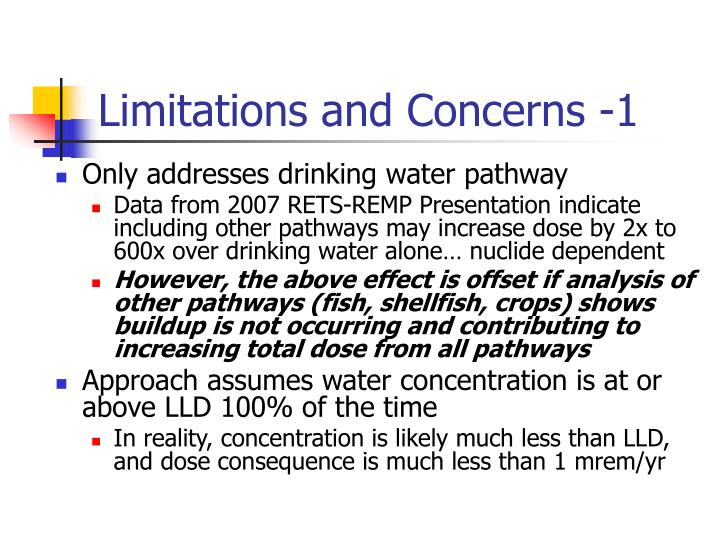 Limitations and Concerns -1