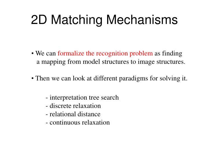 2D Matching Mechanisms