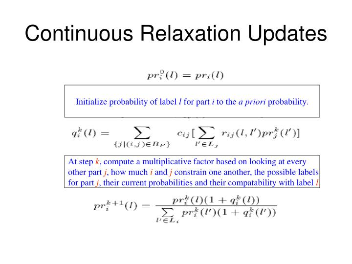 Continuous Relaxation Updates
