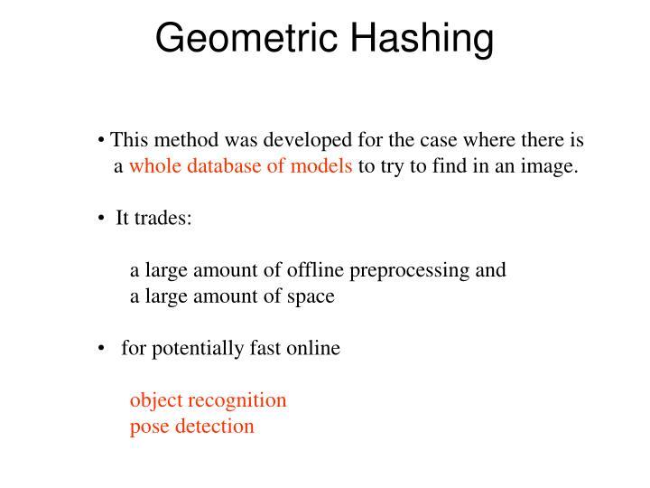 Geometric Hashing