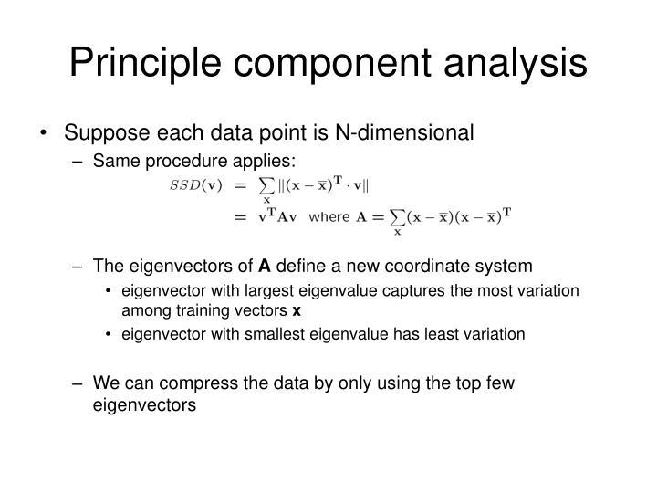 Principle component analysis