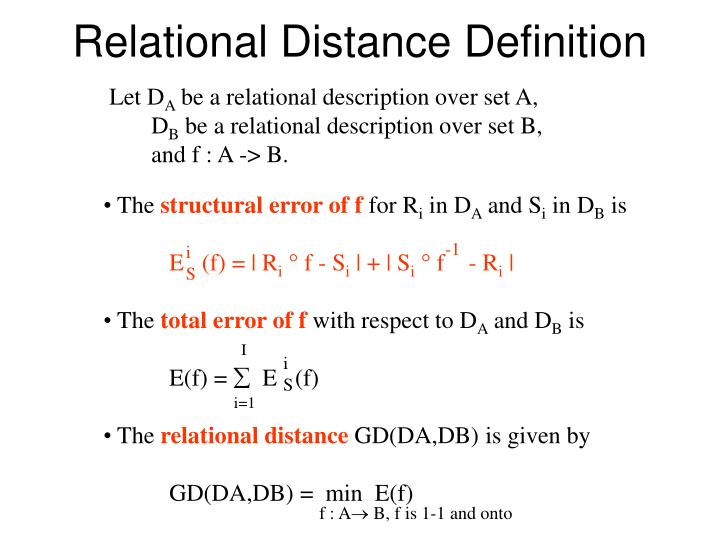 Relational Distance Definition