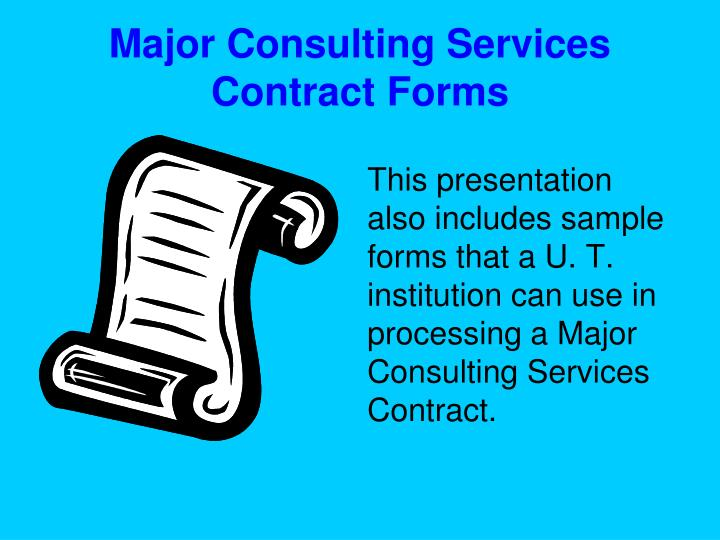 Major Consulting Services Contract Forms