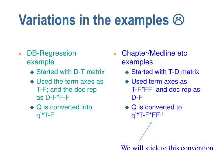 DB-Regression example