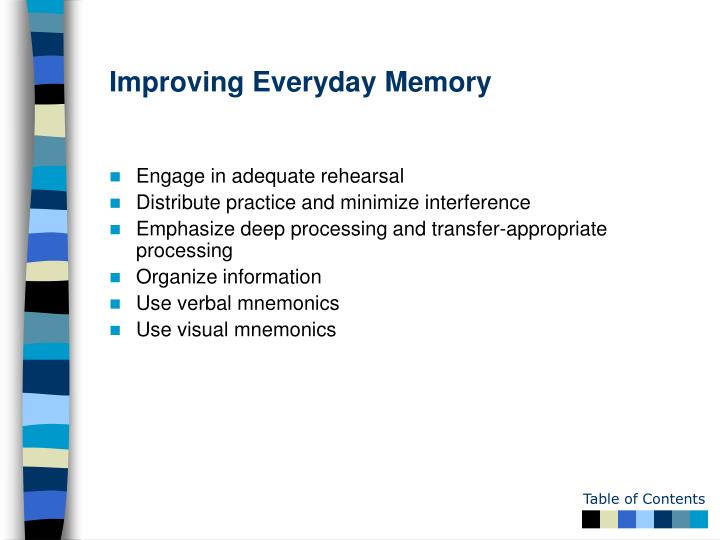 Improving Everyday Memory