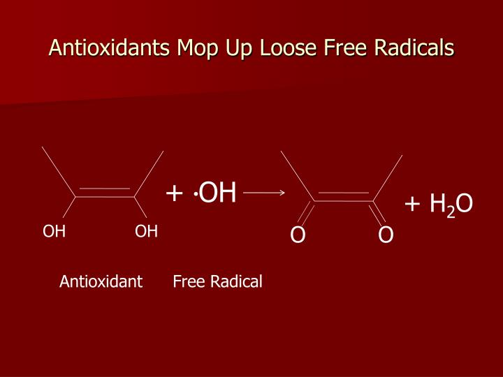 Antioxidants Mop Up Loose Free Radicals