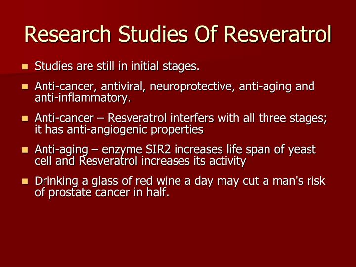 Research Studies Of Resveratrol
