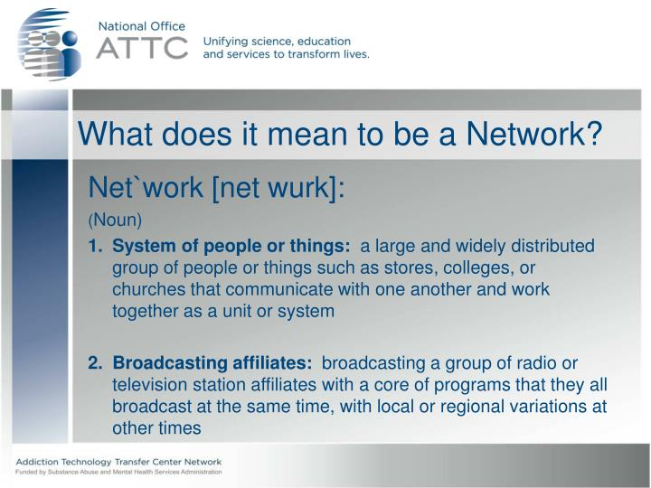 What does it mean to be a network