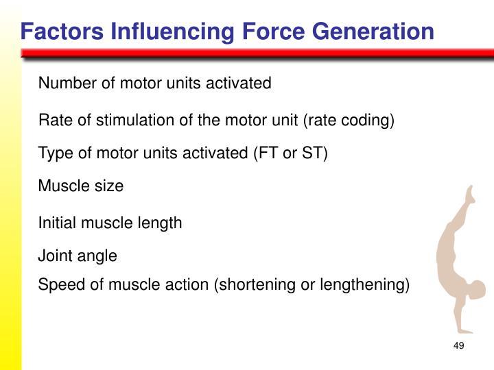 Factors Influencing Force Generation